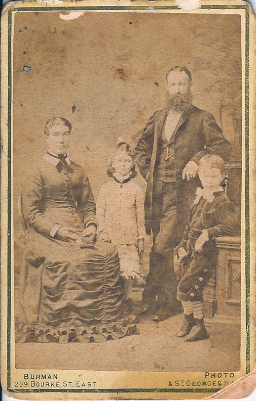 John and Bridget Franklin (nee Boyce) with children Maria and Alfred John